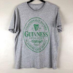 Gap Gray Green Guinness Irish Beer Graphic T Shirt